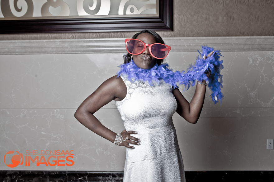 Smile Photo Booth, Bride in funny glasses