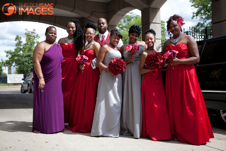 Bridal crew posing