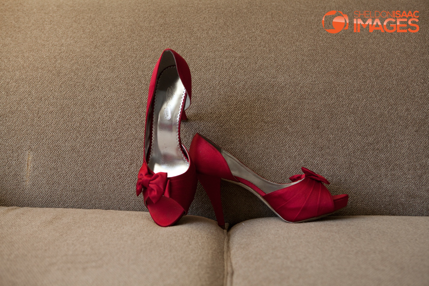 Bride's Wedding Shoes, Red Shoes