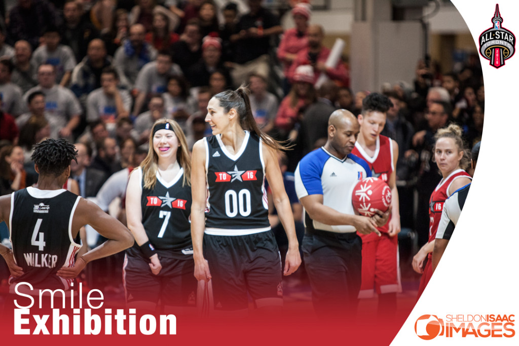Exhibition basketball game at NBA All Star Weekend