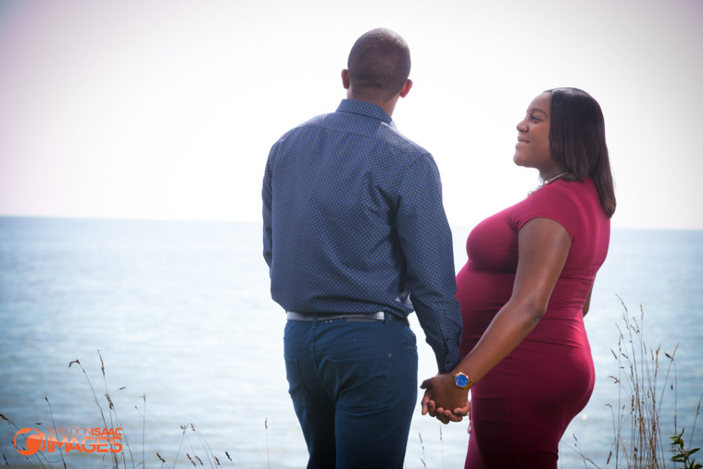 Maternity Photo pregnant lady looking at her husband