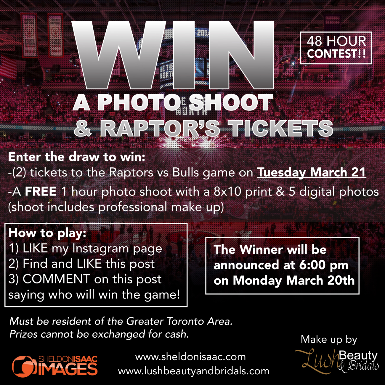 Win A Photoshoot & Raptors Tickets