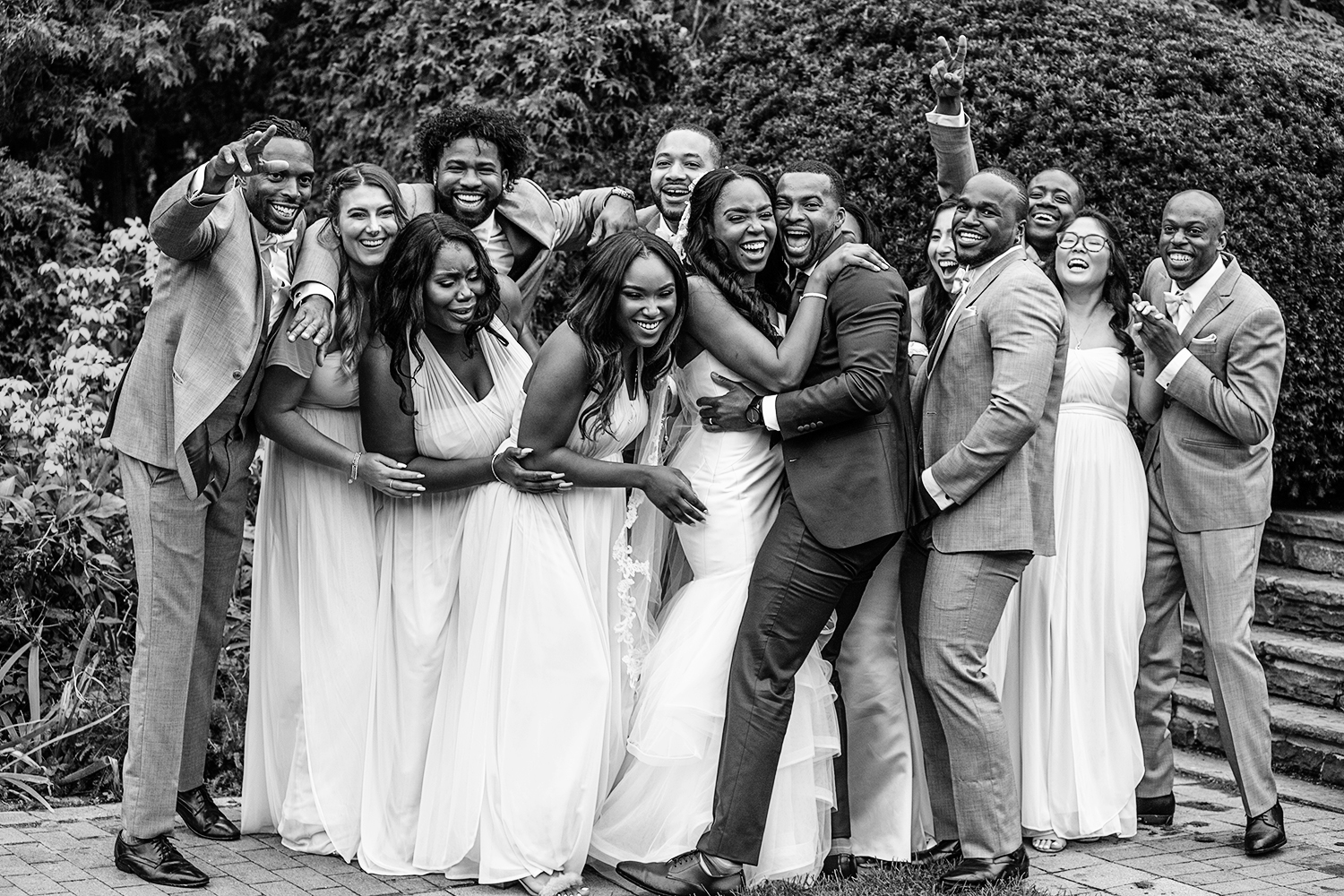 Bridal Party laughing at