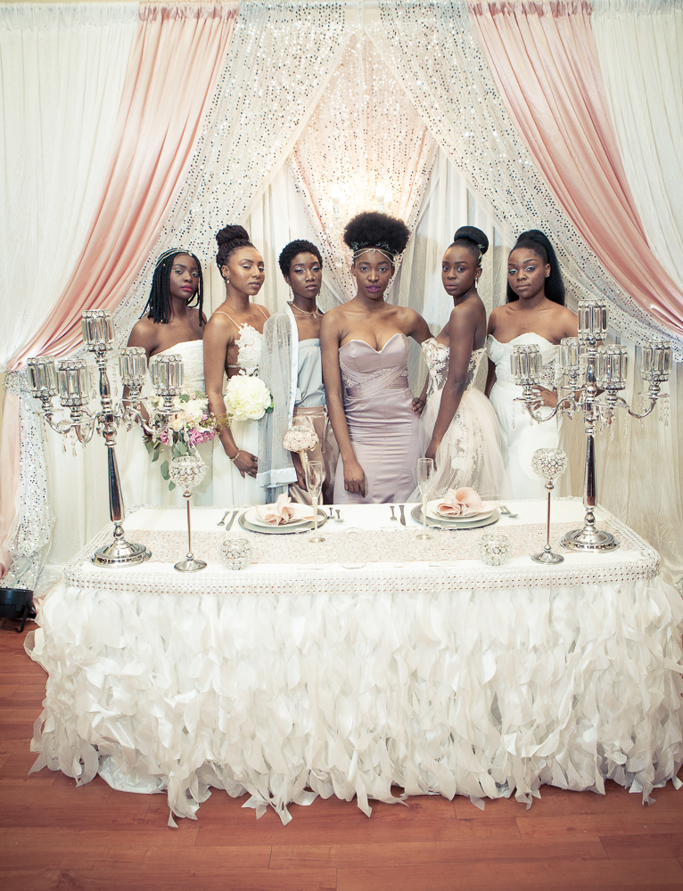 Models modelling wedding dresses at the Bridal Show in Toronto shot by Ajax Wedding Photographer Sheldon Isaac Images