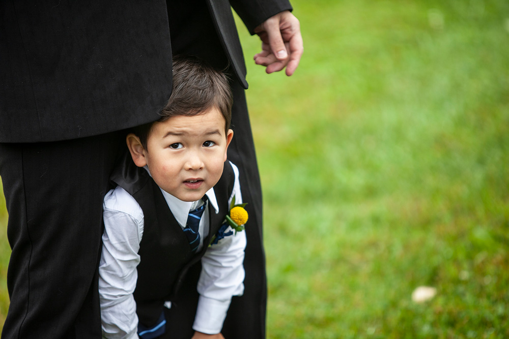 Ajax Wedding Photographer Sheldon Isaac Images photo of Ring Bearer before the ceremony
