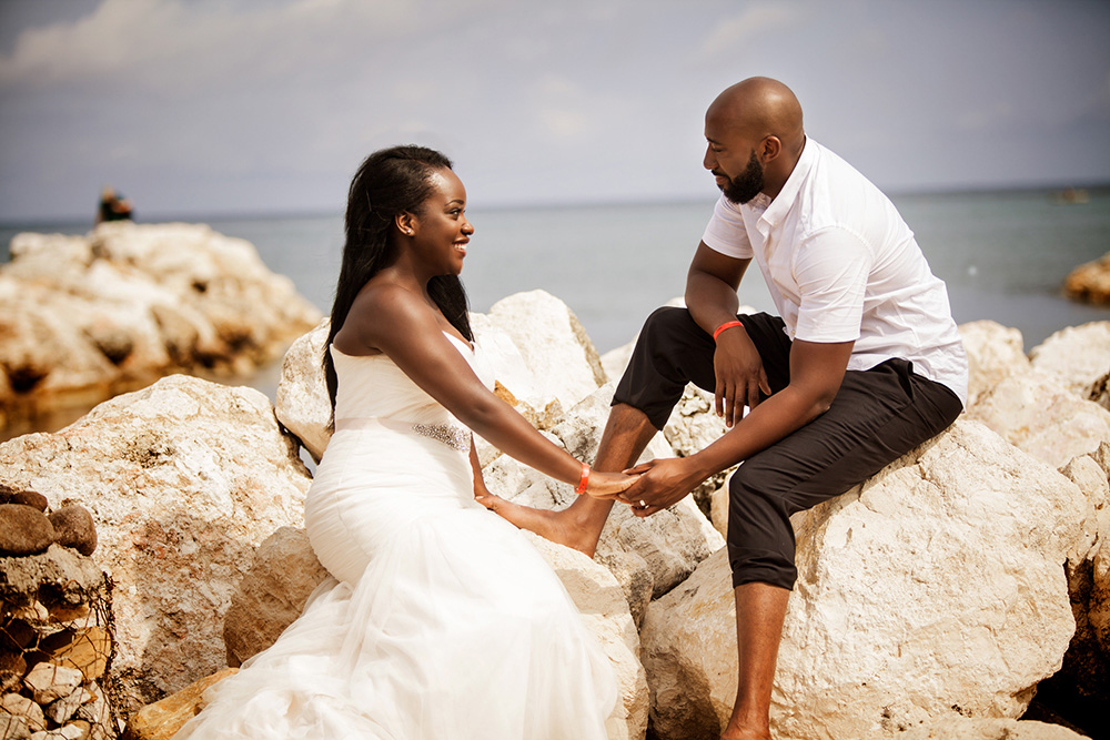 Trash the Dress session in Jamaica shot by Ajax Wedding Photographers Sheldon Isaac Images
